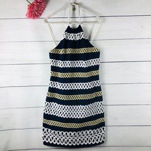 Lilly Pulitzer Cambrey Rope Halter Blue Dress 830